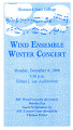 Wind Ensemble Winter Concert 1999